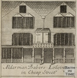 Alderman Baber's Lodgings in Cheap Street, Bath. Gilmore 1694-1717 - detail
