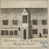 Alderman Stibbs's Lodging in Westgate Street, Bath. Gilmore 1694-1717 - detail