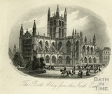 The Bath Abbey from the North East, Bath 1871
