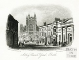 West front of Abbey Church Yard, Bath c.1860