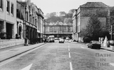 Bath Spa station from Manvers Street, Bath 1987