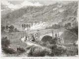Aqueduct of the Kennet and Avon Canal at Limpley Stoke near Bath 1864