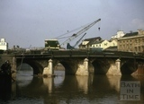 Demolishing the Old Bridge, Bath 1964