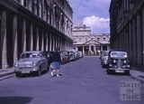 Bath Street looking towards the Pump Room and Mineral Water Fountain, Bath 1964