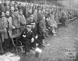 The crowd and St John Ambulance at the Recreation Ground, 2 March 1962
