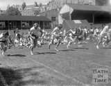 The start of a women's running race on the Recreation Ground, Bath, c.1963