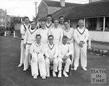 Lansdown cricket team at Combe Park, Bath, c.1963