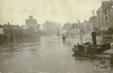 Broad Quay, Bath during the  floods c.1914