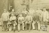 Somerset and Dorset Joint Railway staff at Green Park Shed, Bath c.1880?