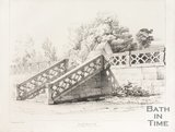 The steps and stone balustrade to the old Claverton Manor, near Bath, 1837