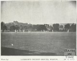 Cricket on Lansdown Cricket Ground, Weston, Bath, c.1909