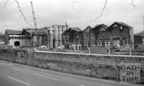 The demolition of Bath Gas Works, Lower Bristol Road, 17 January 1983