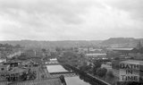 View from the top of the gas works chimney looking east Bath, 7 August 1980