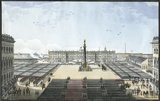 Unveiling of the Alexander Column in Dvortskaya Place in front of the Winter Palace, St Petersburg, 30th August 1834