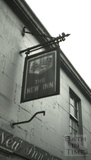 The New Inn pub sign, 8 & 9, Juda Place, Snow Hill, Bath 1966