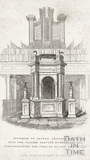 Interior of Argyle Chapel, Bath with the Pillars erected 1841