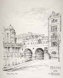 Pulteney Bridge, Bath c.1978