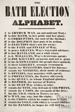 The Bath Election Alphabet 1859