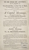 To be sold at Auction No. 2, Catharine Place and No. 20, Bennett Street, Bath 1805