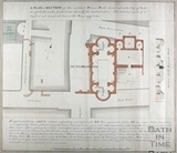 A Plan and Section of the ancient Roman Bath discovered at Bath in 1756