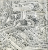 The Soul of Bath. View of the Circus and Royal Crescent 1939