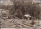 A view of Annie's arboretum and the Suffragettes Nest, in the grounds of Eagle House, Batheaston, c.1910