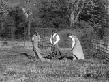 Suffragette Vera Holme planting tree with Annie and Jessie Kenney 1909
