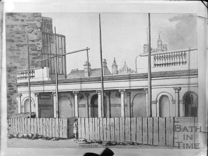 Construction of the King's and Queen's Bath entrance, Stall Street, Bath