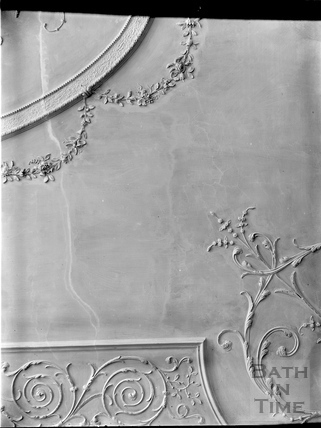 Detail of plasterwork ceiling, Royal Crescent, Bath c.1903