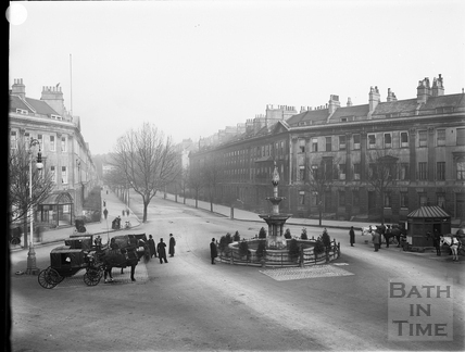 Laura Place and Great Pulteney Street, Bath c.1903