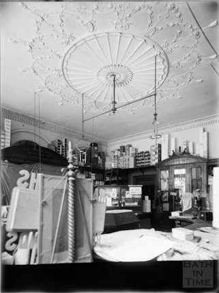 Interior of Wood & Co., stationers, 12, Old Bond Street, Bath c.1903