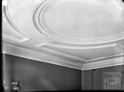 Ceiling, 27, Queen Square, Bath c.1903