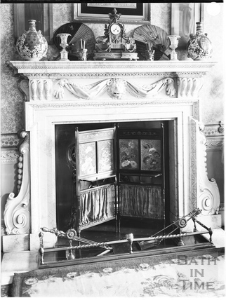 Fireplace, 15, Queen Square, Bath c.1903