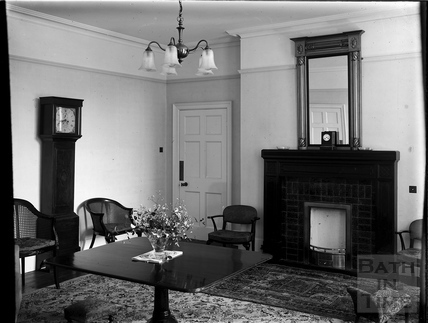 Sitting room, Partis College, Weston, Bath c.1903