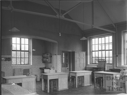 Classroom interior, Royal School, Lansdown, Bath c.1928