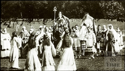 Bath Historical Pageant. Episode 3. Crowning of King Edgar July 1909