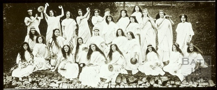 Bath Historical Pageant. Episode 1. Group of Priestesses July 1909