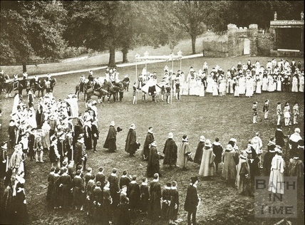 Bath Historical Pageant. Episode 5. Arrival of Queen Elizabeth July 1909