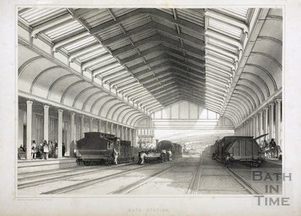 Bath Spa Station, Bath c.1840