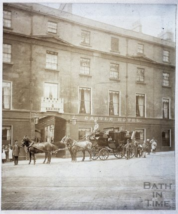 The Castle Hotel, Northgate Street, Bath c.1890