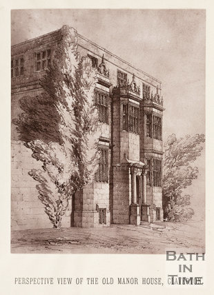 Perspective View of the Old Manor House, Claverton
