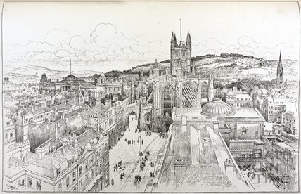 View of the City of Bath 1896