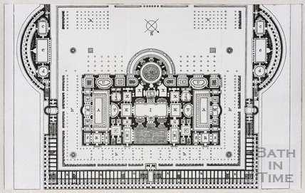 Plan of the Baths of Caracalla in Rome