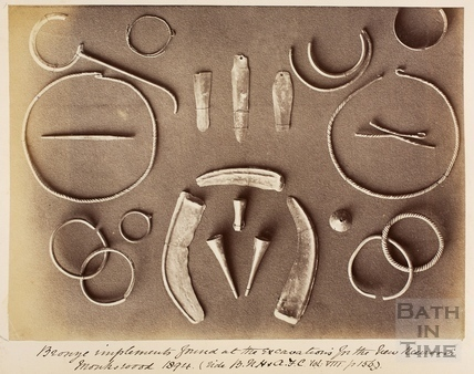 Bronze implements found at Monkswood 1894