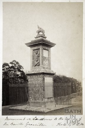 Memorial to Sir Beville Granville, Lansdown, Bath c.1885