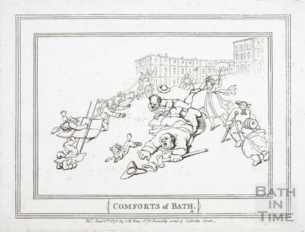 Comforts of Bath, the Royal Crescent 1798