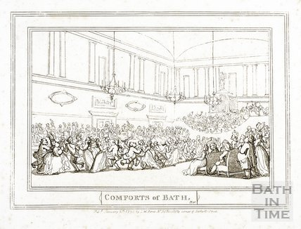Comforts of Bath, the Upper Assembly Rooms 1798