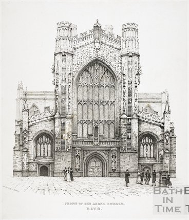 West front of the Bath Abbey, Bath c.1830?