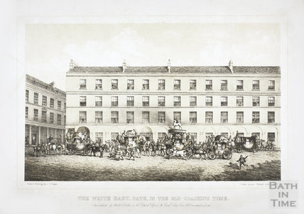 The White Hart, Bath in the Old Coaching Time c.1870