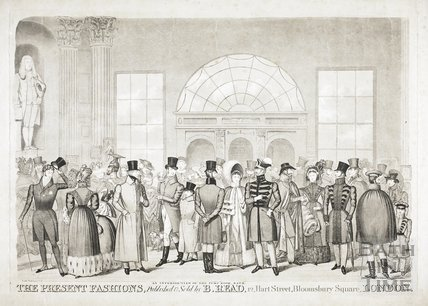 An interior view of the Pump Room, Bath. The Present Fashions c.1825?